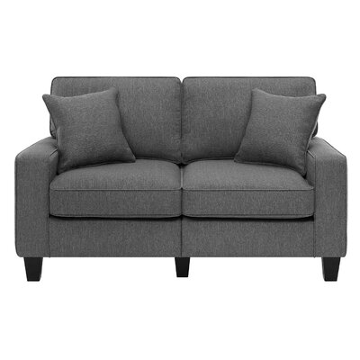 Latitude Run LATR2540 32001402 Lonnie 61″ Track Arm Loveseat Finish