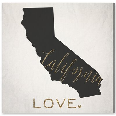 """California Love Framed Graphic Art on Wrapped Canvas Size: 20"""" H x 20"""" W x 1.5"""" D LATR2595 32011059"""