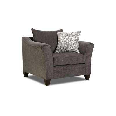 Simmons Upholstery Heath Arm Chair Color: Albany Pewter