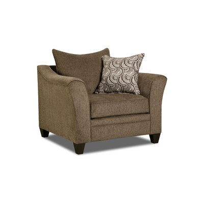 Simmons Upholstery Heath Armchair Color: Albany Truffle
