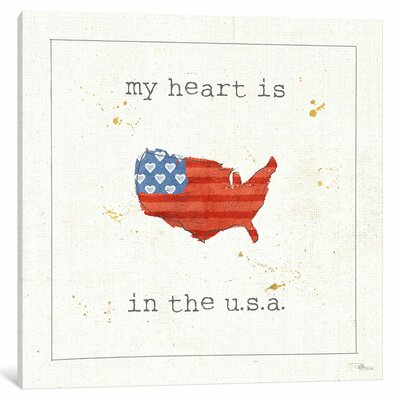USA Cuties II Textual Art on Wrapped Canvas Size: 12