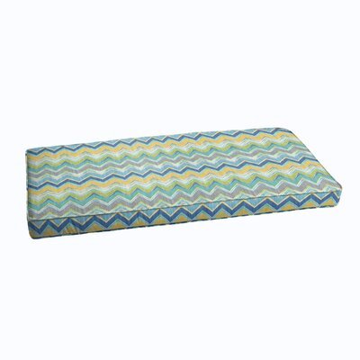 Corded Outdoor Bench Cushion Color: Pacific
