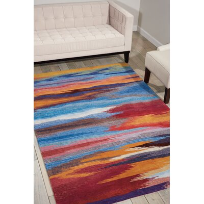 Akuna Hand-Tufted Sunset Area Rug Rug Size: Rectangle 73 x 93