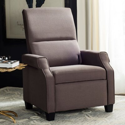 Aria Manual Recliner Upholstery: Dark Taupe