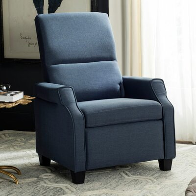 Aria Manual Recliner Upholstery: Navy