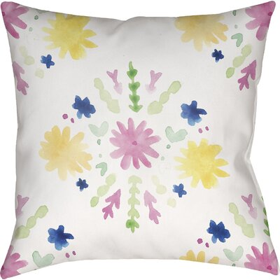 Trista Flores Burst Indoor/Outdoor Throw Pillow Size: 18 H x 18 W x 4 D