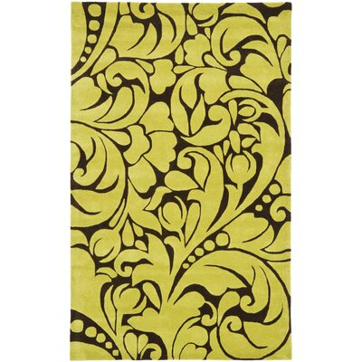 Twila Hand-Tufted Brown/Green Area Rug Rug Size: 5 x 8