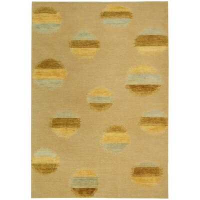 Valerie Hand-Knotted Beige Area Rug Rug Size: 6 x 9