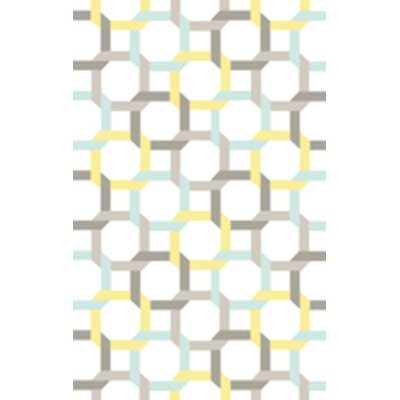 Hand-Loomed Blue/Yellow Area Rug Rug Size: 8 x 10