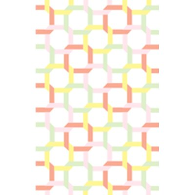 Tufted-Hand-Loomed Yellow/Red/Green Area Rug Rug Size: 4 x 6
