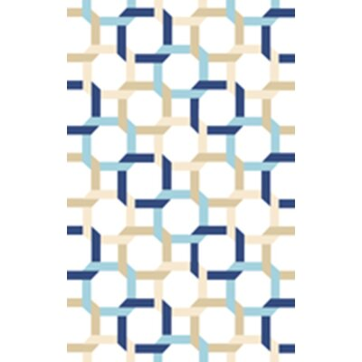 Tufted-Hand-Loomed Blue/Green/Yellow Area Rug Rug Size: 5 x 8