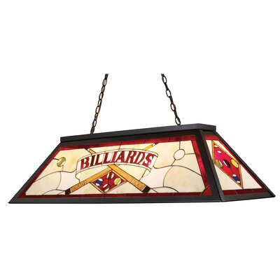 Alexandria Lighting/Billiard/Island 4-Light Pool Table Light Shade Color: Red
