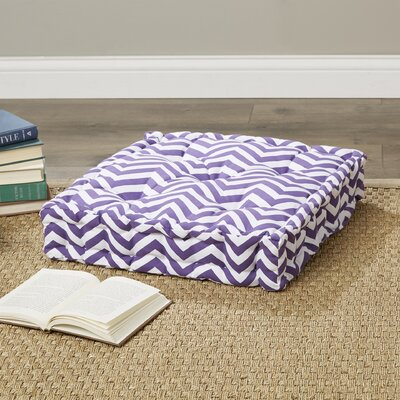 Liana Cotton Floor Pillow Color: Purple