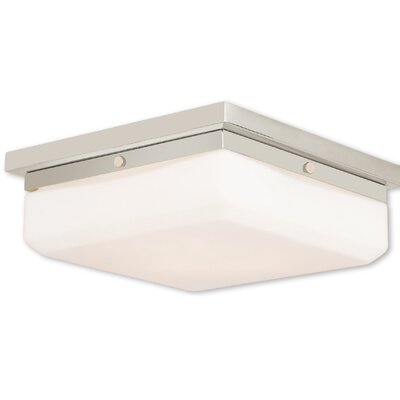 Cara 3-Light Flush Mount Base Finish: Polished Nickel