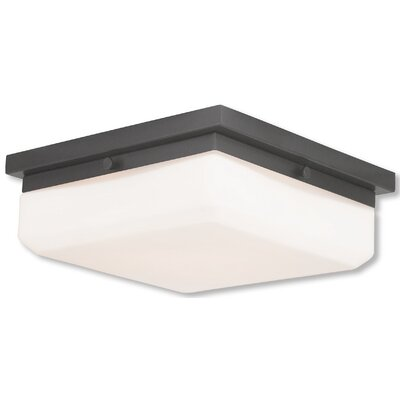 Cara 3-Light Flush Mount Base Finish: English Bronze