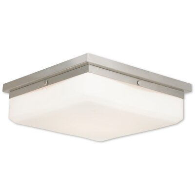 Cara 4-Light Flush Mount Base Finish: Brushed Nickel