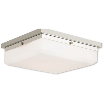 Cara 4-Light Flush Mount Base Finish: Polished Nickel