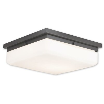 Cara 4-Light Flush Mount Base Finish: English Bronze