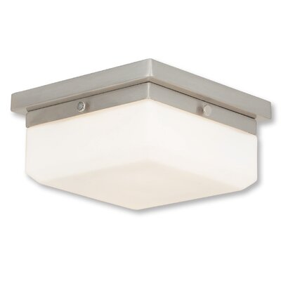 Cara 2-Light Flush Mount Base Finish: Brushed Nickel