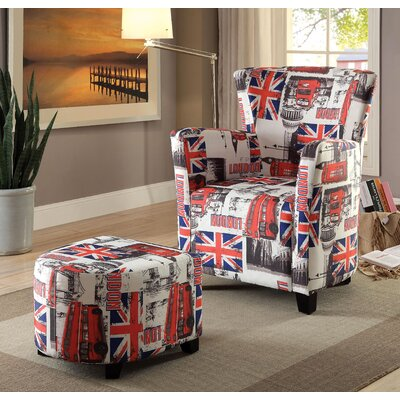 Grange Wing back Chair and Ottoman