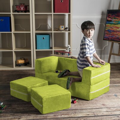Colbie Modular Kids Club Chair and Ottoman