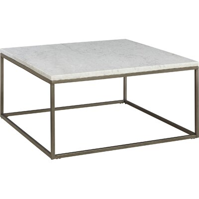 Louisa Square Coffee Table Top Finish: White Marble