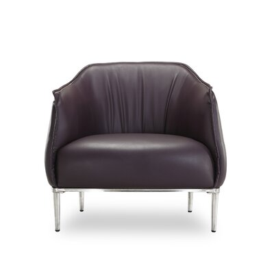 Alfredo Arm Chair Color: Plum
