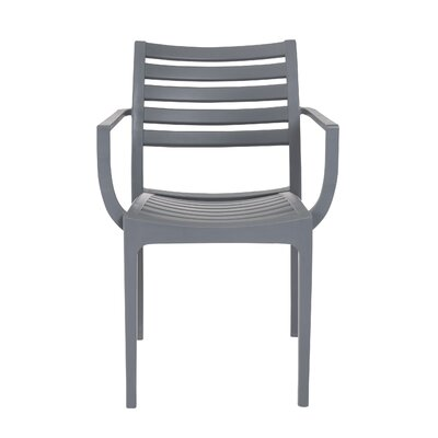 Alton Arm Chair (Set of 4) Finish: Dark Gray