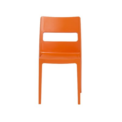 Amie Side Chair (Set of 4) Finish: Orange