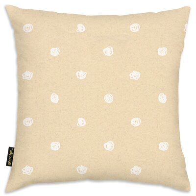 Alfredo White Dot Pattern Throw Pillow