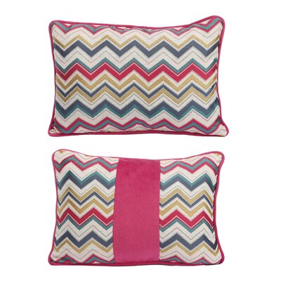Quentin Jacquard Woven Cotton Lumbar Pillow (Set of 2)