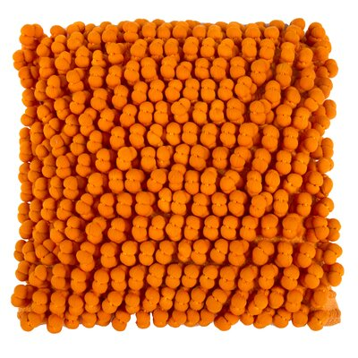 Claudette Throw Pillow Color: Orange