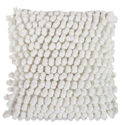 Claudette Throw Pillow Color: White