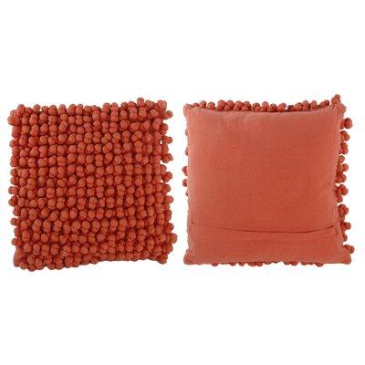 Claudette Throw Pillow Color: Coral