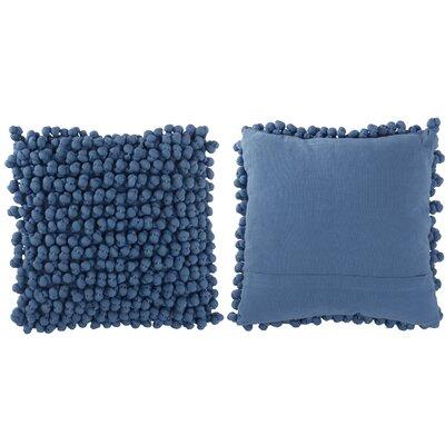Claudette Throw Pillow Color: Metallic Blue