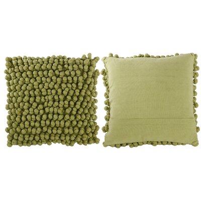 Claudette Throw Pillow Color: Soft Green