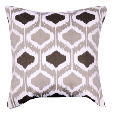 Esperanza Embroidered Throw Pillow Color: Brown