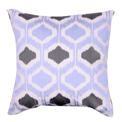 Esperanza Embroidered Throw Pillow Color: Gray