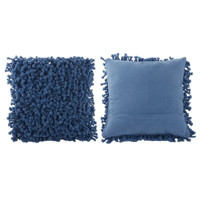 Estelle Throw Pillow Color: Metallic Blue