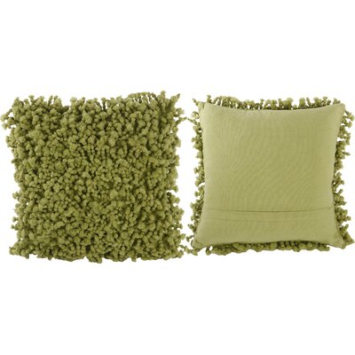 Estelle Throw Pillow Color: Soft Green