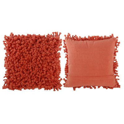 Estelle Throw Pillow Color: Coral