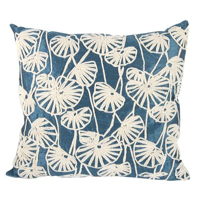 Esther Dupioni Embroidered Lumbar Pillow Color: Blue/Green