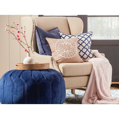 Eugenia Embroidered Throw Pillow