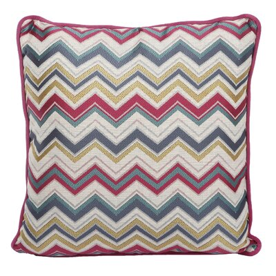 Evelyn Jacquard Woven Cotton Throw Pillow (Set of 2)