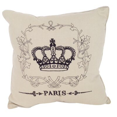 Faith Embroidered Cotton Throw Pillow (Set of 2)