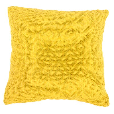 Faye Cotton Throw Pillow (Set of 2) Color: Yellow