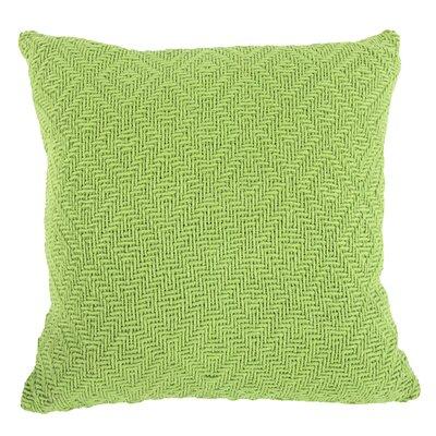 Faye Cotton Throw Pillow (Set of 2) Color: Green