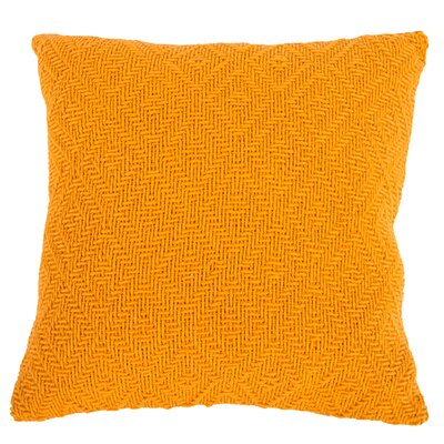 Faye Cotton Throw Pillow (Set of 2) Color: Orange