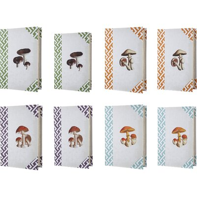 8 Piece Mushroom Book Box (Set of 4)