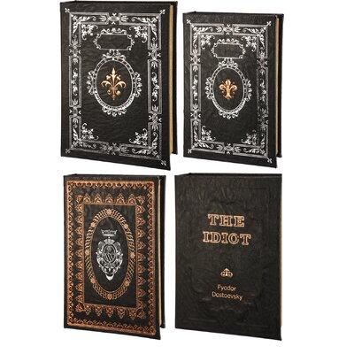 4 Piece Book Boxes Set (Set of 2) LATR3026 32347368